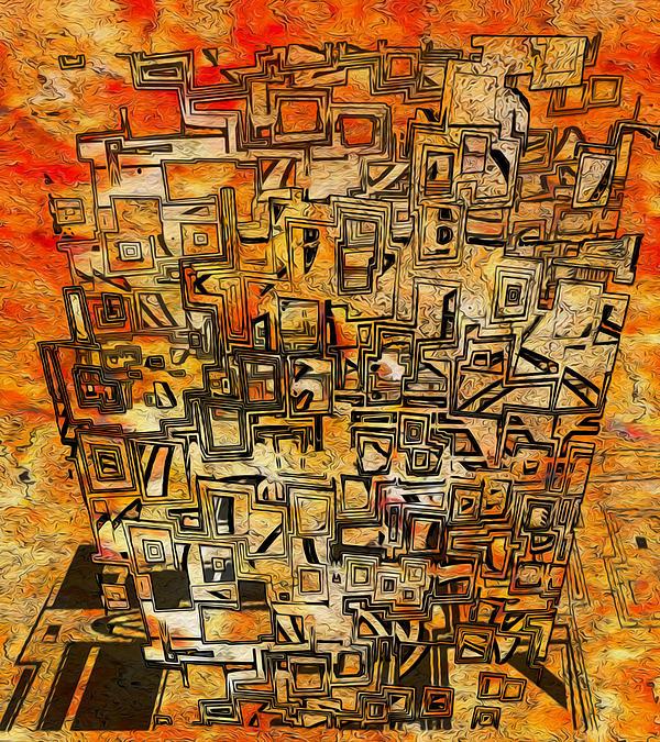Abstraction Digital Art - Tangerine Dream by Jack Zulli