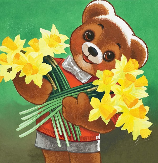 Daffodils Painting - Teddy Bear by William Francis Phillipps