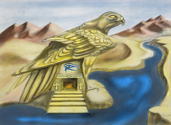 Egyptian Digital Art - Temple Of Horus One Of Three by Michael Cook