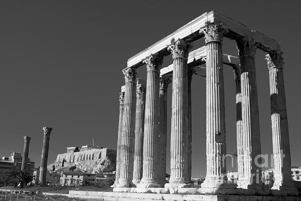 Temple Photograph - Temple Of Zeus by Gabriela Insuratelu