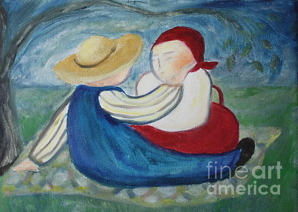 Landscape Painting - Tenderness by Teresa Hutto