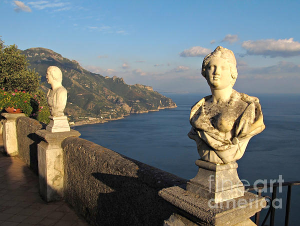Vista Photograph - Terrace Of Infinity In Ravello On Amalfi Coast by Kiril Stanchev