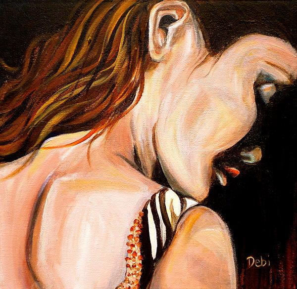 Woman Painting - Tess by Debi Starr
