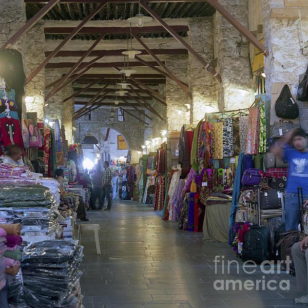 Doha Photograph - Textile Bazaar by Paul Cowan
