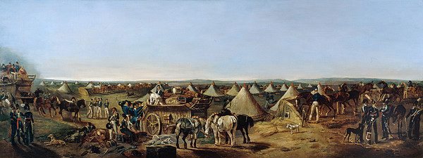 Prince Of Wales' Own Painting - The 10th Regiment Of Dragoons Arriving by A.E. Eglington