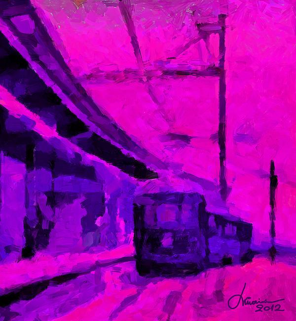 Train Digital Art - The 7am Train Tnm by Vincent DiNovici