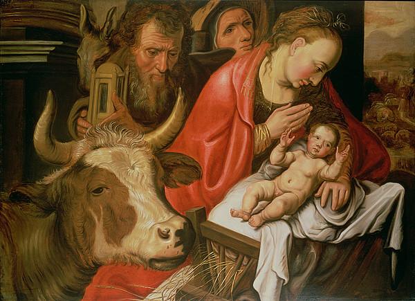 Shepherd Painting - The Adoration Of The Shepherds by Pieter Aertsen