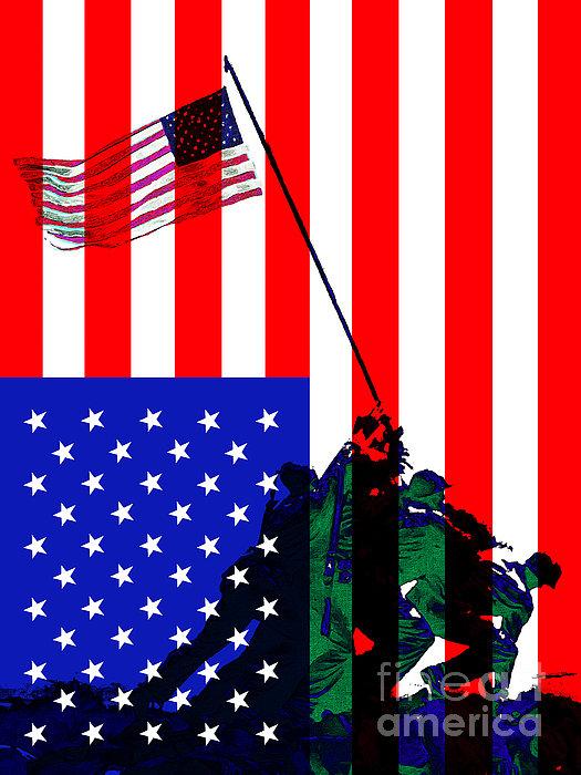 Jima Photograph - The American Flag Over Iwo Jima 20130210 by Wingsdomain Art and Photography