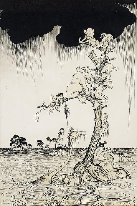 The Animals You Know Are Not As They Are Now Painting by Arthur Rackham