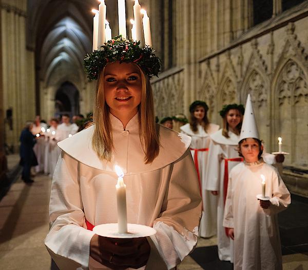 The Annual Sankta Lucia Festival Of Light Photograph by Ian Forsyth