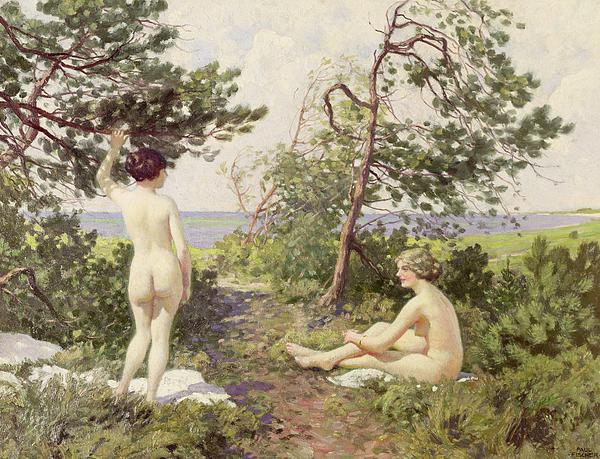Swim Painting - The Bathers by Paul Fischer