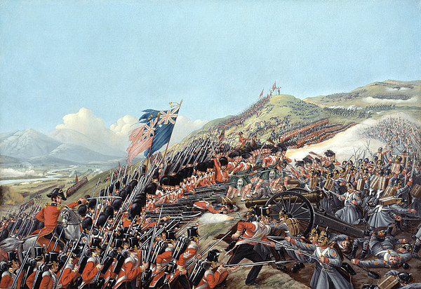Soldiers Painting - The Battle Of Alma On 20th September by Edmund Walker