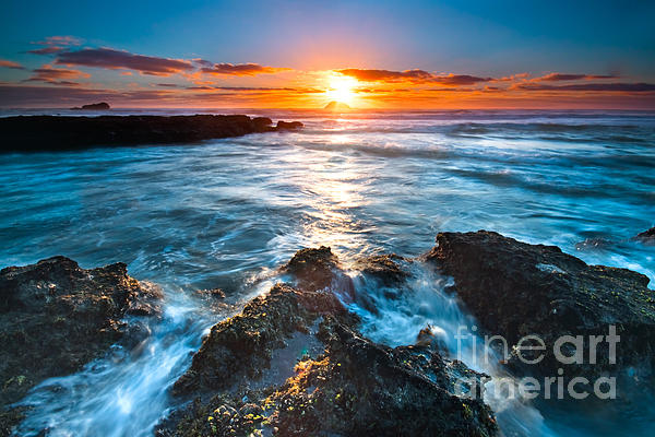 Beautiful Photograph - The Beautiful Sunset Beach by Boon Mee