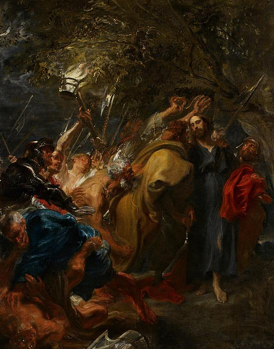Jesus Painting - The Betrayal Of Christ by Anthony Van Dyck