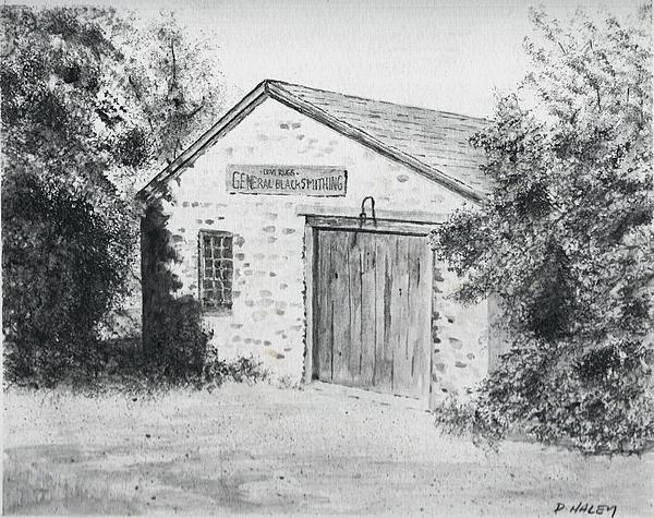Blacksmith Painting - The Blacksmiths Shop by Dan Haley