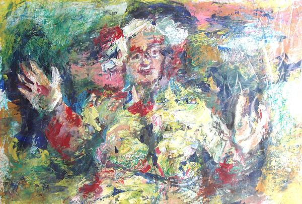 Grandmother Painting - The Bobbe by Esther Newman-Cohen