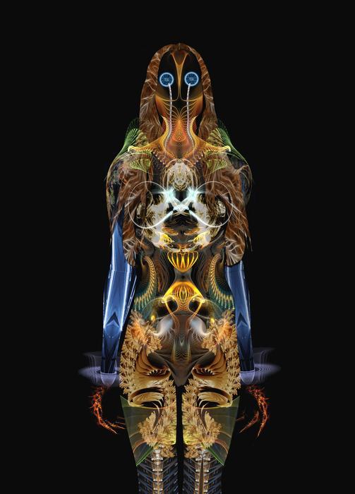 Fractal Digital Art - The Body by Bear Welch