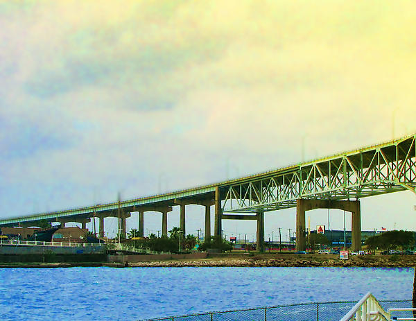 Blue Photograph - The Bridge Begins The Day by Wendy J St Christopher