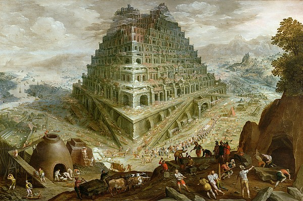 Construction Painting - The Building Of The Tower Of Babel by Marten van Valckenborch