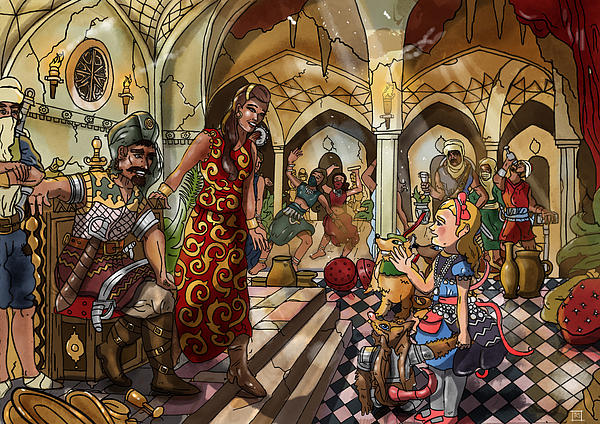 Wurtherington Painting - The Cave Of Ali Baba by Reynold Jay