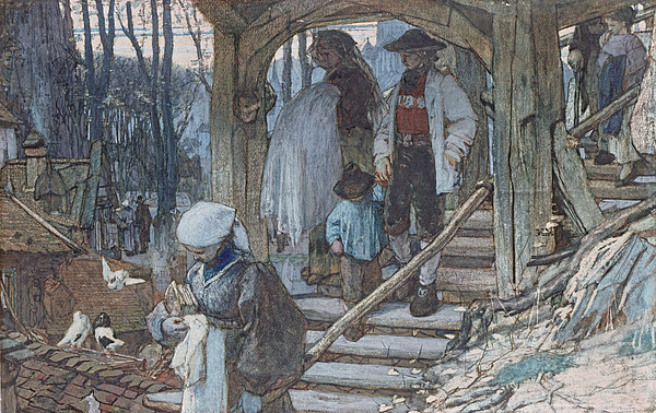 Lychgate Drawing - The Christening Gate In Lausanne, C.1861 by Matthijs Maris