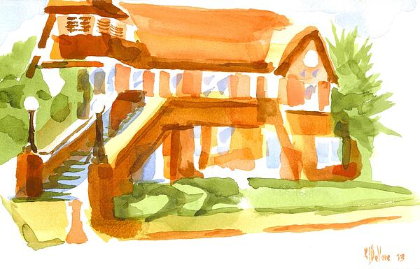 Watercolor Painting - The Church On Shepherd Street Vi by Kip DeVore