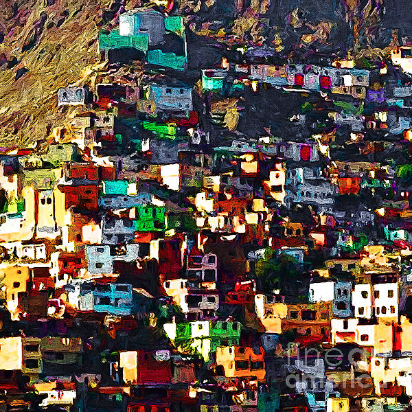 Peru Photograph - The City On The Hill V1 Square by Wingsdomain Art and Photography
