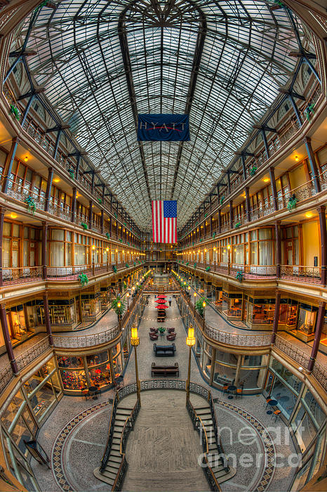 America Photograph - The Cleveland Arcade Vii by Clarence Holmes