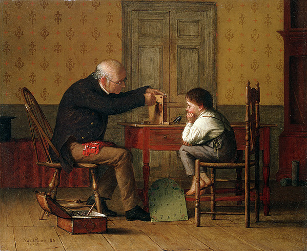 Repairer Painting - The Clock Doctor, 1871 by Enoch Wood Perry