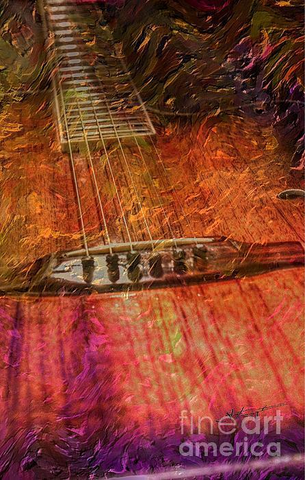 Acoustic Photograph - The Color Of Music Digital Guitar Art By Steven Langston by Steven Lebron Langston