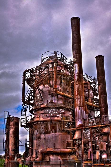 Gasworks Park Photograph - The Compressor Building At Gasworks Park - Seattle Washington by David Patterson