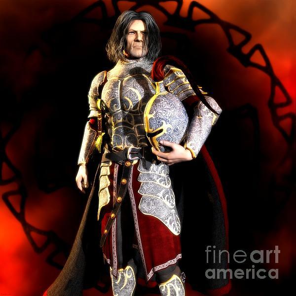 Knight Digital Art - The Conqueror by Gabor Gabriel Magyar - Forgottenangel
