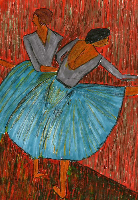 Dancers Mixed Media - The Dancers by John Giardina