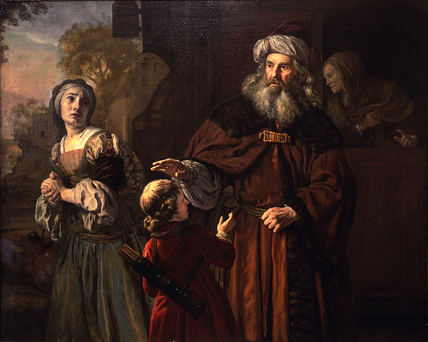 Exile Painting - The Dismissal Of Hagar, 1650 by Jan Victors
