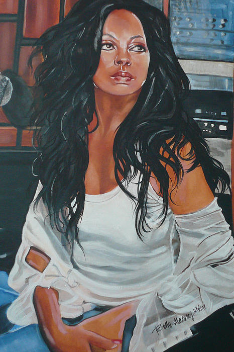 Diana Ross Painting - The Diva by Belle Massey