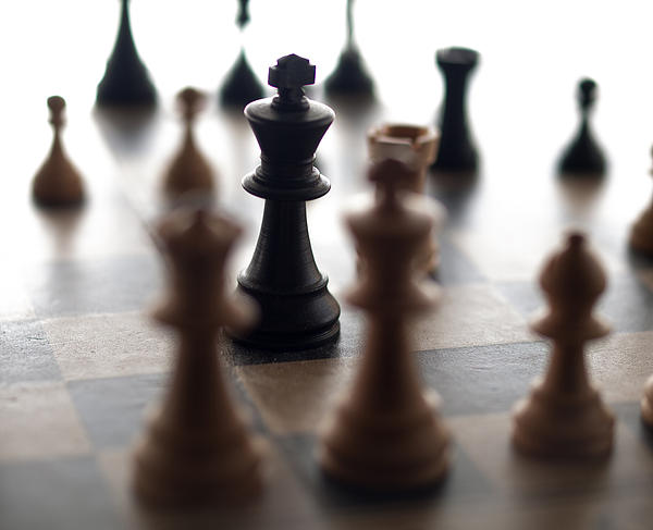 Chessmen Photograph - The Enemy At The Gates by Daniel Tubbs
