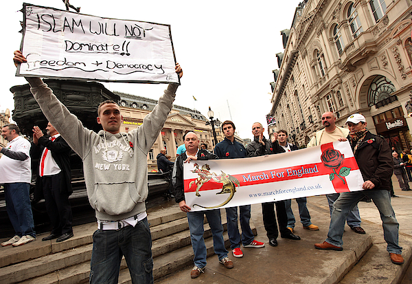 The English Defence League Hold City Centre Demonstrations Photograph by Oli Scarff