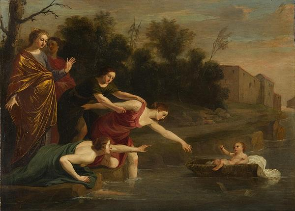 Landscapes Painting - The Finding Of Moses   by Jacques Stella
