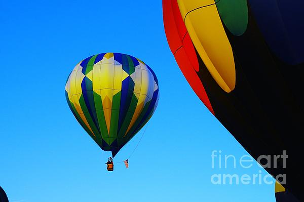 Balloons Photograph - The First One Up  by Jeff Swan