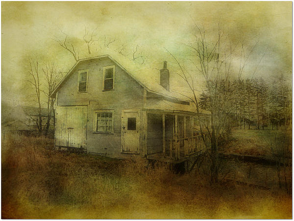 Abandoned House River Country Rural Rundown Atmosphere  Photograph - The Forgotten House  by Dianne  Lacourciere