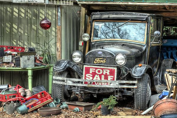 Ford Photograph - The Garage Sale by JC Findley