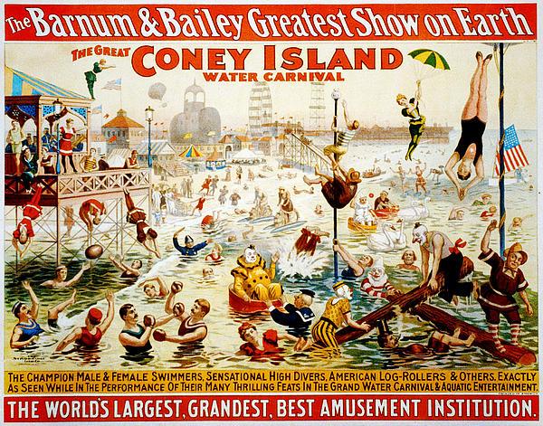 Coney Digital Art - The Great Coney Island Water Carnival by Georgia Fowler