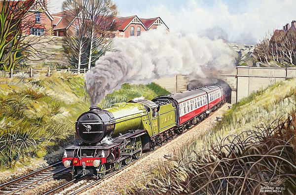 Train Painting - The Green Arrow by David Nolan