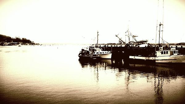 Harbor Harbor .sepia Photograph - The Harbor. by Justin Moranville