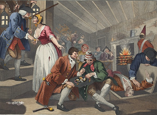 Basement Drawing - The Idle Prentice Betrayed by William Hogarth