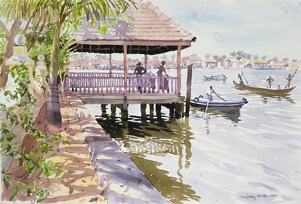 Jetty Painting - The Jetty Cochin by Lucy Willis