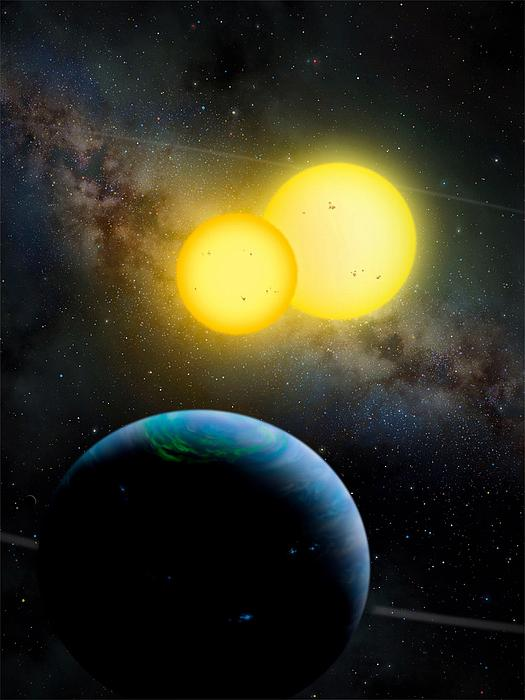 Moon Photograph - The Kepler 35 System by Movie Poster Prints