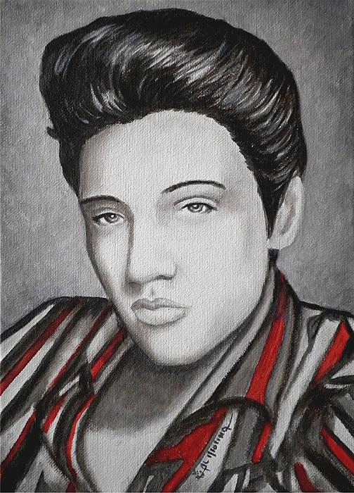 Elvis Painting - The King by Al  Molina