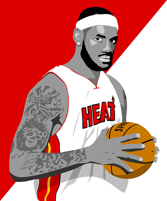 Lebron Digital Art - The King Lebron James by Paul Dunkel
