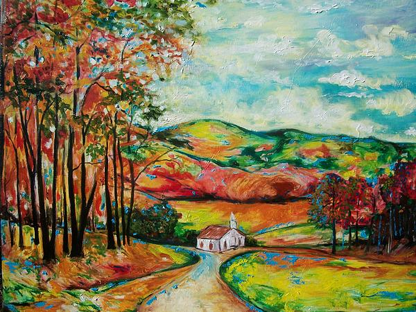 The Landscape I Love Painting by Emery Franklin